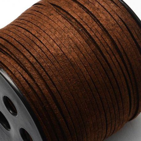 Zomšinė juostelė, rudos spalvos 3 mm, 1 metras