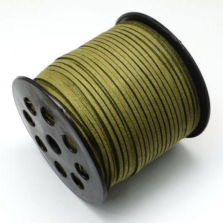 Zomšinė juostelė skirta rankdarbiams, suvenyrams papuošalams gaminti. Chaki (samanų) spalvos, kaina - 0,25 Eur už 1 metras