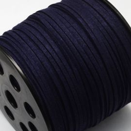 Zomšinė juostelė skirta rankdarbiams, suvenyrams papuošalams gaminti. Tamsiai mėlynos spalvos, kaina - 0,25 Eur už 1 metras