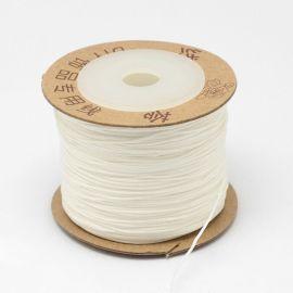 Nailoninis siūlas skirta rankdarbiams, suvenyrams papuošalams gaminti. Baltos spalvos, kaina - 0,45 Eur už 5 metrai
