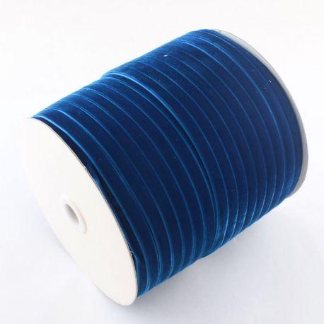 Vienpusė velvetinė juostelė skirta rankdarbiams, suvenyrams papuošalams gaminti. Mėlynos spalvos, kaina - 0,4 Eur už 1 metras