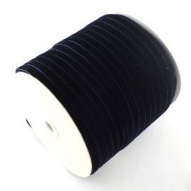 Vienpusė velvetinė juostelė skirta rankdarbiams, suvenyrams papuošalams gaminti. Juodos spalvos su mėlynu atspalviu, kaina - 0,4