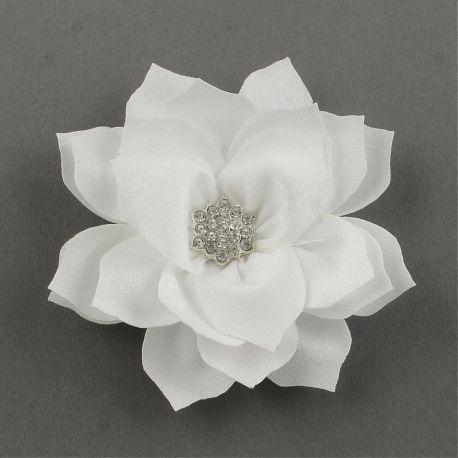 Dekoratyvinė gėlytė, baltos spalvos 86x20 mm., 1 vnt.