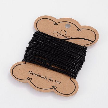 Natūralios odos virvutė skirta rankdarbiams, suvenyrams papuošalams gaminti. Juodos spalvos, kaina - 5,51 Eur už 1 ritinėlis