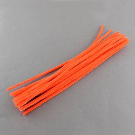 Dekoratyvinė vielutė su pūkeliu, oranžinės spalvos dydis 5x300 mm., 5 vnt.