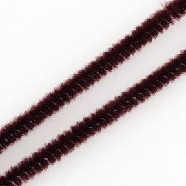 Dekoratyvinė vielutė su pūkeliu skirta rankdarbiams, suvenyrams papuošalams gaminti. Rudos spalvos, kaina - 0,25 Eur už 5 vnt.