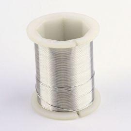 Varininės vielutės skirtos papuošalų, rankdarbių gamyboje. Sidabro spalvos, storis ~0.3 mm., kaina - 3,6 Eur už 50 m.