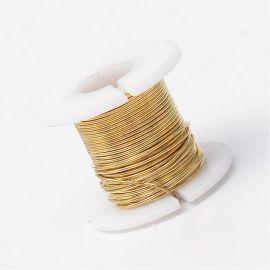 Varininės vielutės skirtos papuošalų, rankdarbių gamyboje. Aukso spalvos, storis ~0.3 mm., kaina - 3,6 Eur už 50 m.