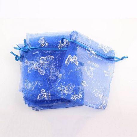 """Organzos maišelis """"Drugelis"""" skirtas supakuoti suvenyrams papuošalams, smulkmenoms. Mėlynos spalvos, kaina - 0,15 Eur už 1 vnt."""