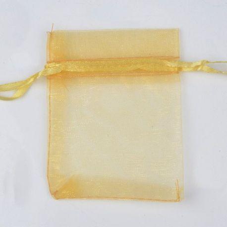 Organzos maišelis skirtas supakuoti suvenyrams papuošalams, smulkmenoms. Rudai geltonos spalvos, kaina - 0,12 Eur už 1 vnt.