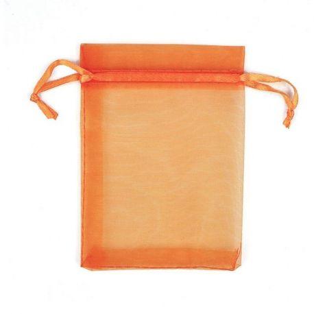 Organzos maišelis skirtas supakuoti suvenyrams papuošalams, smulkmenoms. Oranžinės spalvos, kaina - 0,12 Eur už 1 vnt.