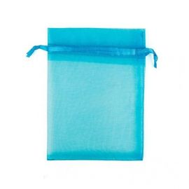 Organzos maišelis skirtas supakuoti suvenyrams papuošalams, smulkmenoms. Žaliai žydros spalvos, kaina - 0,12 Eur už 1 vnt.