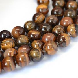 Natural Tiger eye beads 8 mm, 1 strand