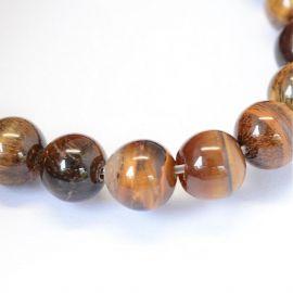 Natural Tiger eye beads 8 mm, 1 strand
