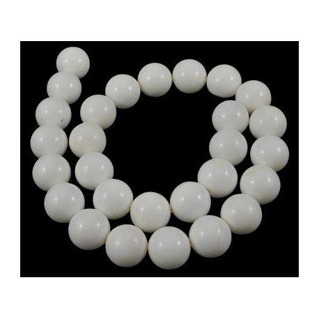 Natūralūs SHELL perlų karoliukai. Akmenėliai skirti suvenyrams papuošalams, rankdarbiams, smulkmenoms gaminiti. Baltos spalvos,