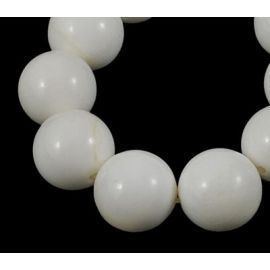 Natūralūs SHELL perlų karoliukai 10 mm, 1 gija
