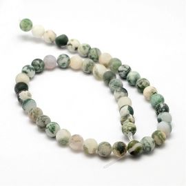 Natural Mossy Agate beads 8 mm, 1 strand