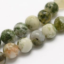 Natural Mossy Agate beads 10 mm, 1 strand