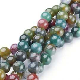 Natural Indijos Agate beads 10 mm, 1 strand