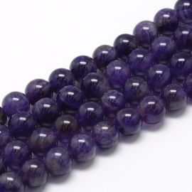 Natural ametisto beads 10mm, 1 strand