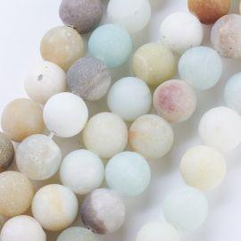 Natural Amazonite beads 8 mm, 1 strand