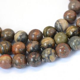 Natural okeaninio Jasper beads 8 mm, 1 strand