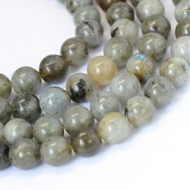 Natural Labradorite beads 8 mm, 1 strand
