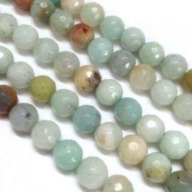 Natural amazonite beads 10 mm, 1 thread