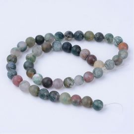 Natural Indijos Agate beads 10 mm., 1 strand