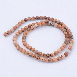 Natural pikaso Jasper beads 10 mm., 1 strand