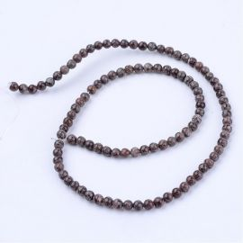 Natural snieginio Obsidian beads 8 mm., 1 strand