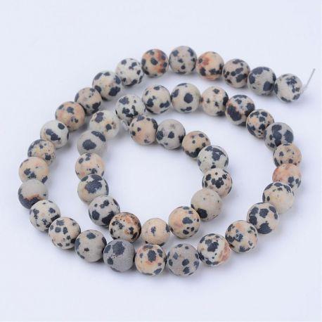 Natūralūs dalmatininio jaspio karoliukai. Akmenėliai skirti suvenyrams papuošalams, rankdarbiams, smulkmenoms gaminiti. Smėlio s
