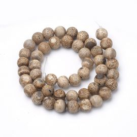 Natūralūs agato karoliukai 8 mm., 1 gija