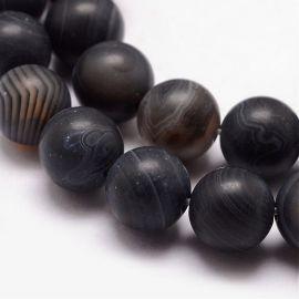 Natūralūs agato karoliukai 10-11 mm., 1 gija