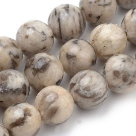 Natural feldsparo beads 8 mm., 1 strand