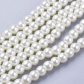 Glass pearls 6 mm., 1 strand