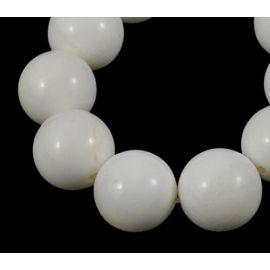 Natūralūs SHELL perlų karoliukai 14 mm., 1 gija