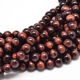 Natural Tiger eye beads 10 mm., 1 strand