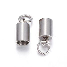 Nerūdijančio plieno 304 Jewelry end cap 10x5 mm., 1 bag
