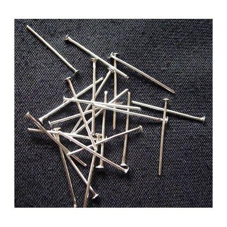 Metaliniai smeigtukai. Skirti suvenyrams papuošalams, rankdarbiams, smulkmenoms gaminiti. Platinos spalvos, kaina - 0,5 Eur už a