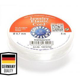 GRIFFIN elastinė gumutė . Skaidri, kaina - 3 Eur už 5 m.