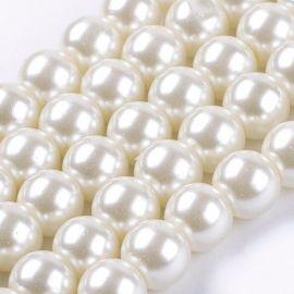 Glass pearls 8 mm., 1 thread