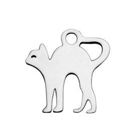 "Nerūdijančio plieno 304 pendant ""Cat"", 12,5x12x1 mm., 1 pc"