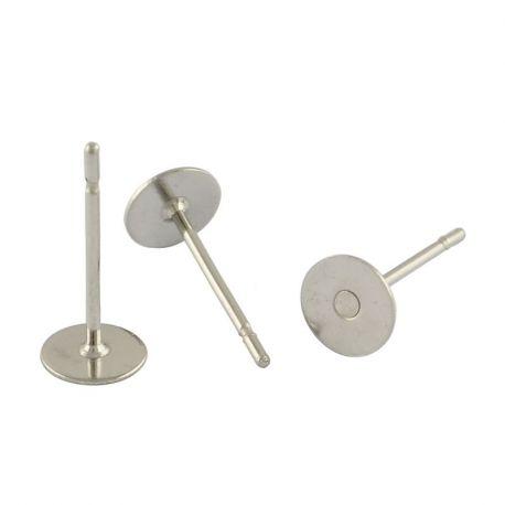 Nerūdijančio plieno 304 auskarų kabliukai, nikelio spalvos, perlams, vėriniams, apyrankėms, akmenėliams, karoliukams verti, 12x8