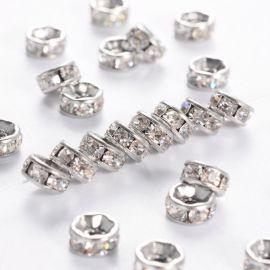Nerūdijančio plieno 316 intarpas su akutėmis, nikelio spalvos, perlams, vėriniams, apyrankėms, akmenėliams, karoliukams verti, 6