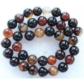 Natural Agate beads, 10 mm., 1 strand
