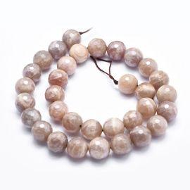 Natūralūs mėnulio akmens karoliukai, rusvos spalvos, perlams, vėriniams, apyrankėms, akmenėliams, karoliukams verti, 10 mm dydži