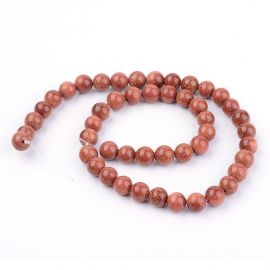 Synthetic withn stone beads, 10 mm., 1 strand