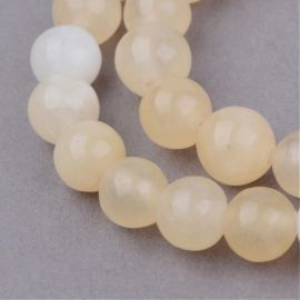 Geltonojo Jade beads, 10 mm., 1 strand