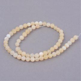 Geltonojo Jade beads, 10 mm., 1 strand